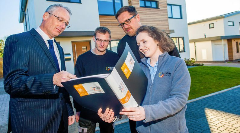 Housing Development Solar Panels