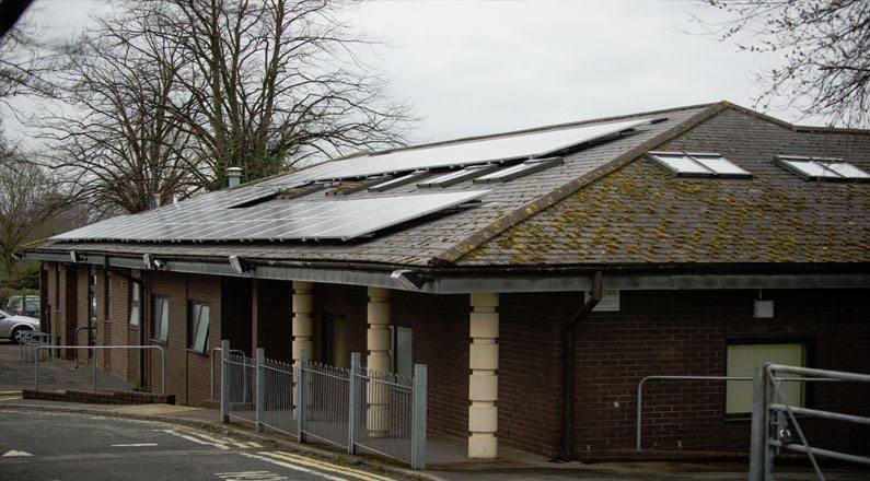 Solar for health centre Exeter