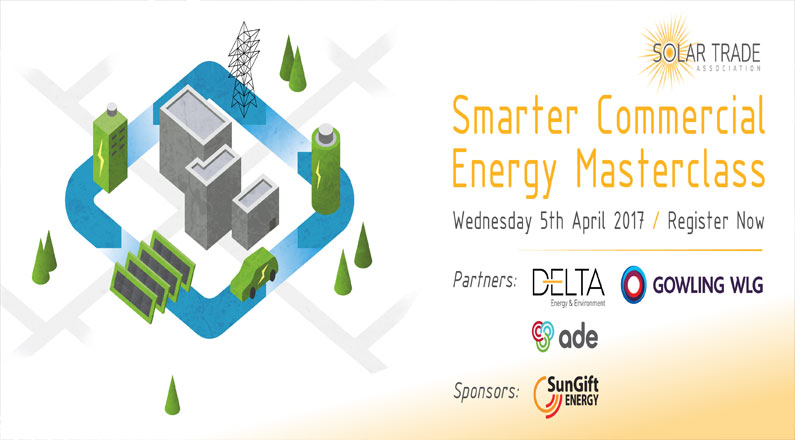 SunGift to speak at Smarter Commercial Energy Masterclass