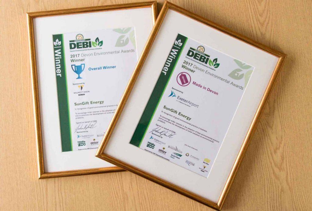 Even more award winning – SunGift scoop two DEBI awards!