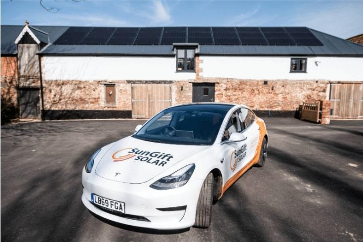 SunGift Tesla at SunGift Offices