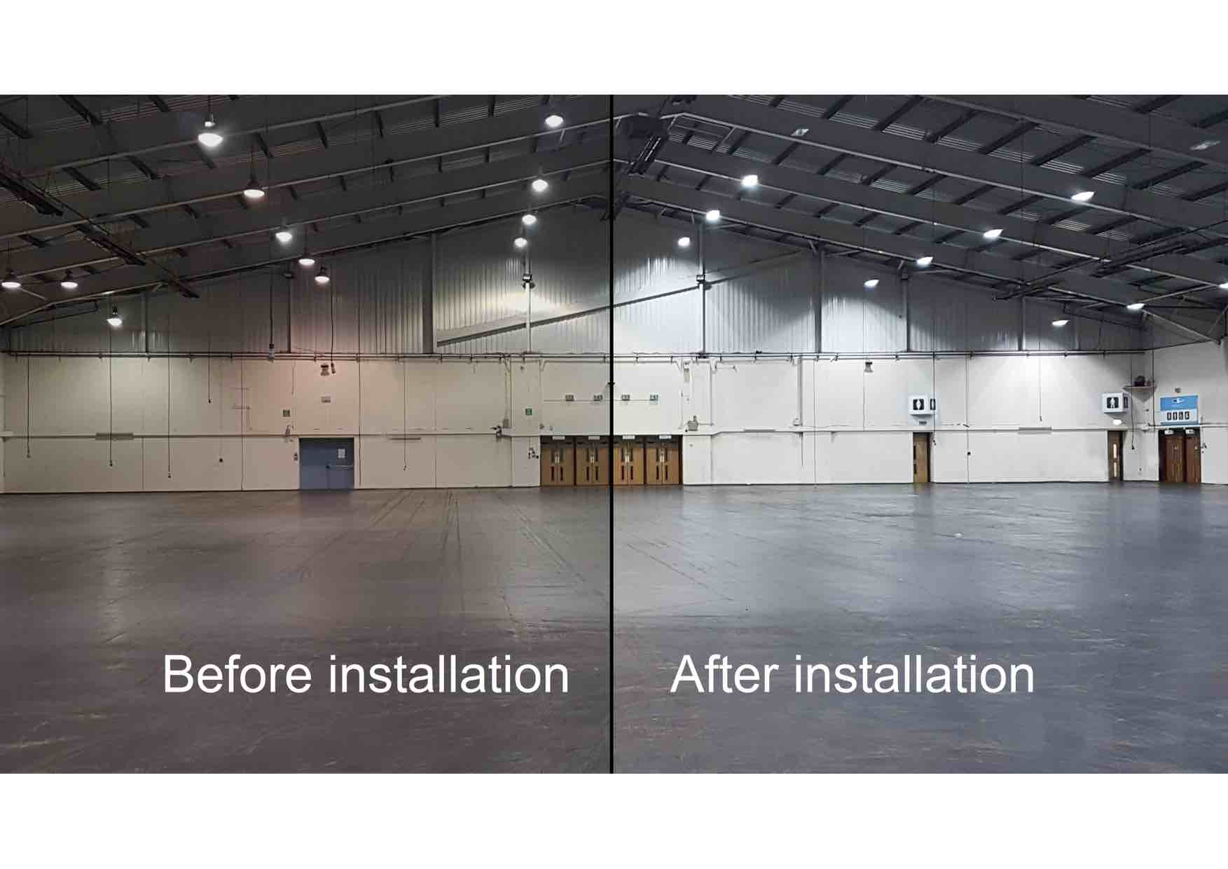 led lighting before & after